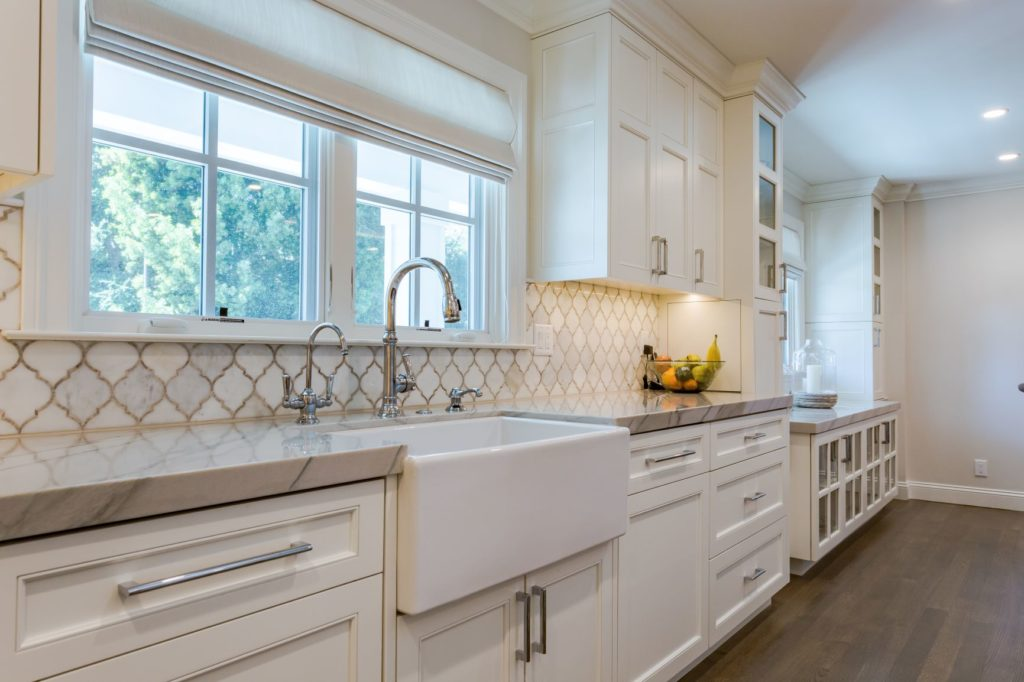 Staging White Cabinets